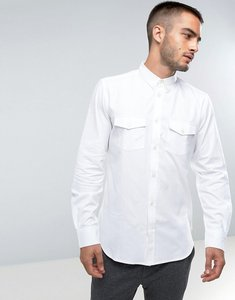 Read more about French connection slim fit shirt with double pocket - white