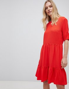 Read more about Y a s sadur tiered shift dress - red