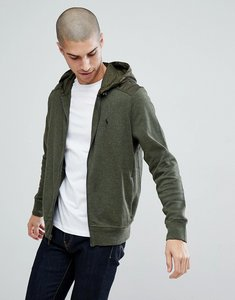 Read more about Polo ralph lauren athleisure full zip hooded sweat jacket in green - alpine heather