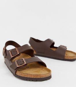 Read more about Birkenstock milano birko-flor sandals in dark brown