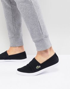 Read more about Lacoste marice bl slip on plimsolls in black - black