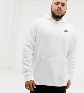 Read more about Nike plus club swoosh pullover hoodie in white 804346-100 - white