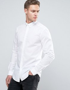 Read more about Esprit stretch slim fit cotton poplin shirt - white
