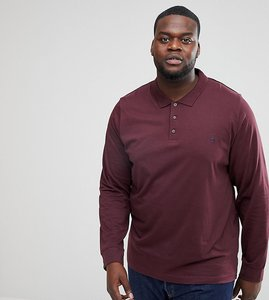 Read more about French connection plus long sleeve polo shirt - red