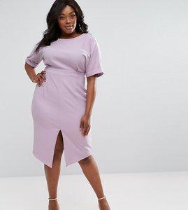 Read more about Asos curve smart midi dress - lavender