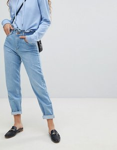 Read more about Miss selfridge frill top mom jeans - blue