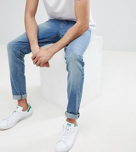 Read more about Asos design tall skinny jeans in mid wash - mid wash blue