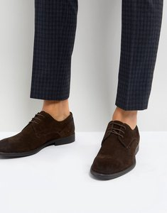 Read more about Asos derby shoes in brown suede with distressed sole - brown