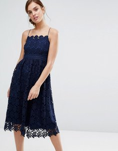 Read more about Little white lies rhett lace dress - navy