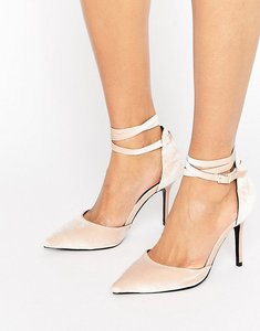 Read more about Shoelab tie ankle court shoe - nude velvet