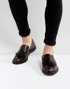 Read more about House of hounds dexie leather tassel loafers in burgundy - red