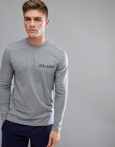 Read more about Lyle scott fitness mcgowan long sleeve t-shirt with back print in grey marl - grey marl