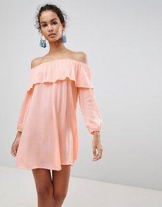 Read more about Glamorous off shoulder dress - pink