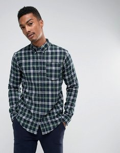Read more about D-struct flannel check shirt - green