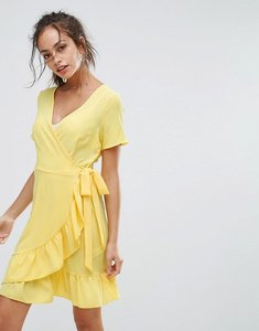 Read more about New look ruffle wrap dress - bright yellow