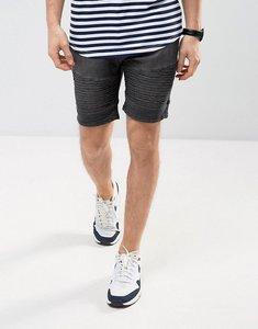 Read more about Brave soul biker shorts in washed grey denim - grey