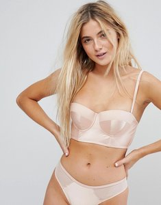 Read more about New look satin longline balconette bra - pink