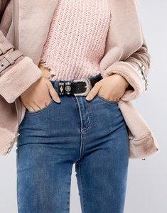 Read more about Glamorous black western stud detail jeans belt - black