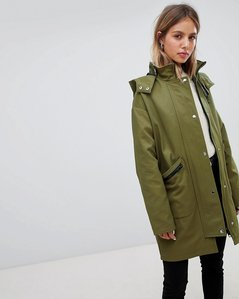 Read more about Asos design parka with buckle detail - khaki