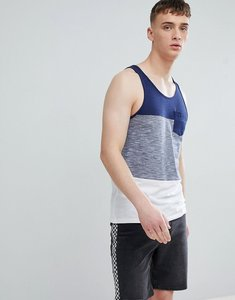 Read more about Esprit vest with block stripe in navy - 400