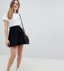 Read more about Asos design petite mini skater skirt - black
