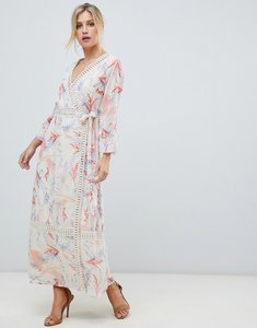 Read more about Asos design maxi dress with lace trim in soft floral print