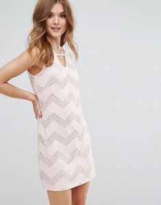 Read more about Lavand sleeveless shift dress in zig zag print - pk