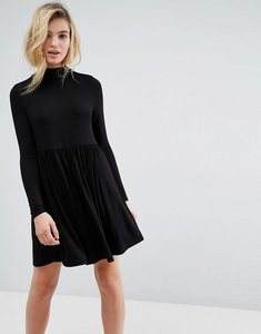 Read more about Asos polo neck smock dress - black