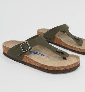 Read more about Birkenstock gizeh birko-flor sandals in green - green