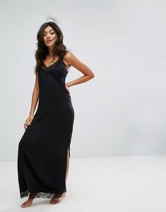 Read more about Y a s adie maxi nightdress - black