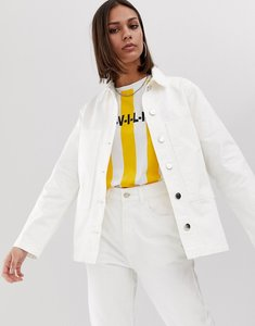 Read more about Uncivilised white denim long workers jacket