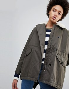 Read more about Parka london zoe swing parka coat with borg collar
