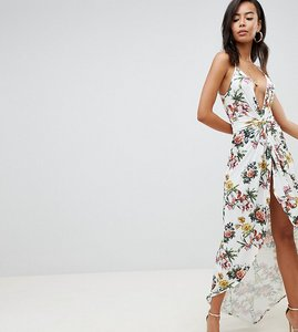 Read more about Asos design tall slinky occasion maxi dress in floral print - multi
