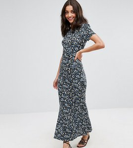 Read more about Asos tall city maxi tea dress in floral print - floral