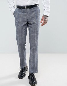 Read more about Harry brown slim fit tweed checked suit trousers - blue
