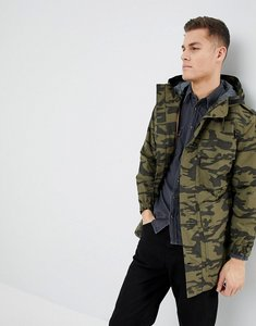 Read more about Mango man camo parka jacket in khaki - khaki