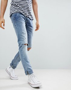 Read more about Blend cirrus distressed ripped skinny jeans - bluey grey