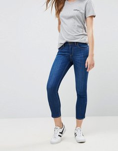 Read more about Lee scarlett mid rise slim cropped jeans - bright blue worn
