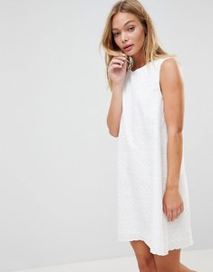 Read more about French connection bixa broderie shift dress - summer white