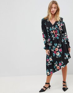 Read more about Influence asymmetric hem floral dress - multi