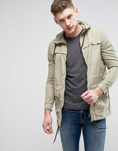 Read more about Another influence lightweight parka jacket - green