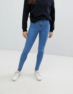 Read more about Noisy may ankle length high waist skinny jeans - medium blue
