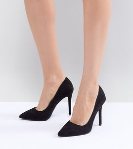Read more about Qupid pointed high heeled shoes - black