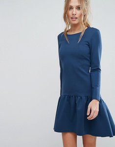 Read more about Closet fluted hem long sleeve dress - indigo