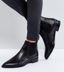 Read more about Asos automatic leather chelsea boots - black leather