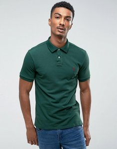 Read more about Polo ralph lauren pique polo slim fit in dark green - northwest pine