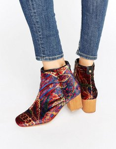 Read more about Hudson london garnett liberty velvet mid ankle boots - liberty au