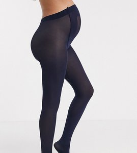 Read more about Asos maternity new improved fit 80 denier tights in navy - navy