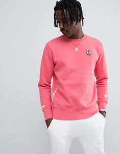 Read more about Aape by a bathing ape sweatshirt with universe back print - pink