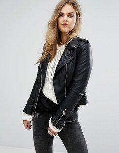 Read more about Pimkie faux leather biker jacket - black